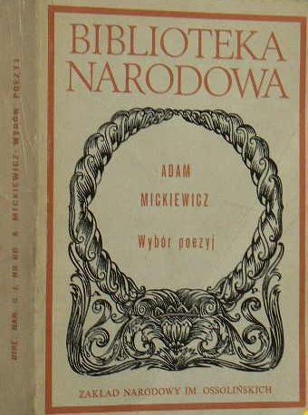 Wybór Poezyj Adam Mickiewicz Wbibliotecepl